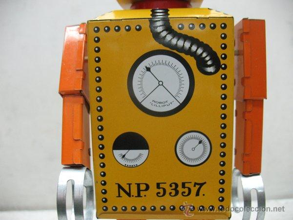Juguetes antiguos de hojalata: Liliput - Robot de hojalata con mecanismo a cuerda N.P 5357 - Foto 7 - 44879744