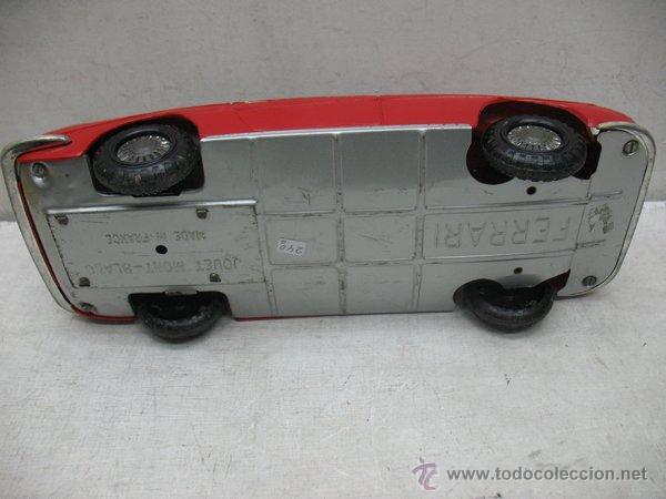 Juguetes antiguos de hojalata: Jouets Mont-Blanc Ref: 611-2 - Coche Ferrari Auto Grand Sport fabricado en Francia - Foto 8 - 44879968