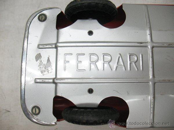 Juguetes antiguos de hojalata: Jouets Mont-Blanc Ref: 611-2 - Coche Ferrari Auto Grand Sport fabricado en Francia - Foto 10 - 44879968