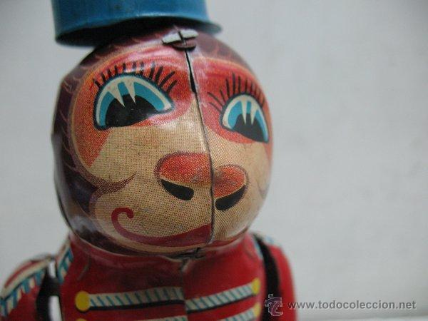 Juguetes antiguos de hojalata: Mono de circo de Hojalata litografiada con mecanismo a cuerda,Made in Japan - Foto 2 - 44977061