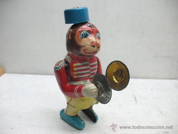 Juguetes antiguos de hojalata: Mono de circo de Hojalata litografiada con mecanismo a cuerda,Made in Japan - Foto 3 - 44977061