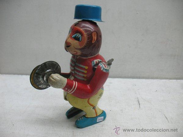 Juguetes antiguos de hojalata: Mono de circo de Hojalata litografiada con mecanismo a cuerda,Made in Japan - Foto 4 - 44977061