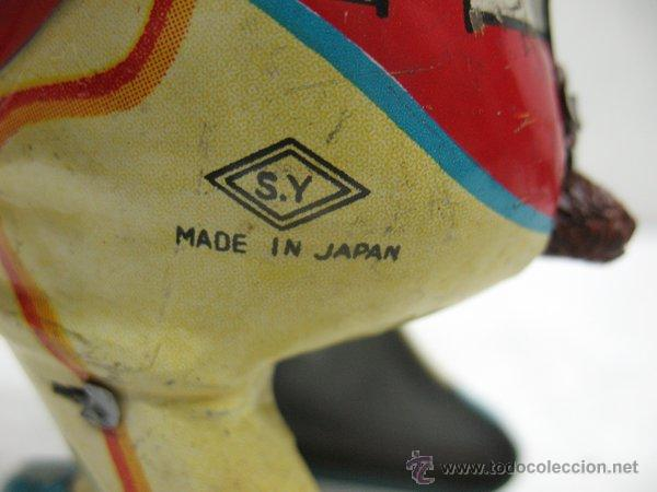 Juguetes antiguos de hojalata: Mono de circo de Hojalata litografiada con mecanismo a cuerda,Made in Japan - Foto 5 - 44977061