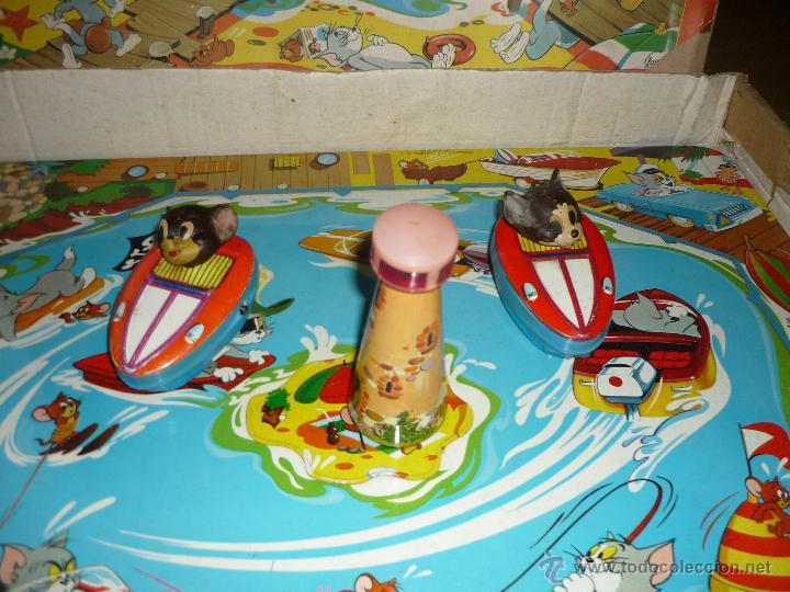 Juguetes antiguos de hojalata: ESPECTACULAR JUEGO HOJADELATA Payvasa Tom y Jerry PistaS Jerry Island Electrica Pascual Valls 60 70 - Foto 2 - 45179868
