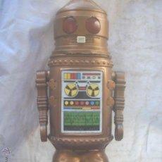 Juguetes antiguos de hojalata: ROBOT AR-TUR -MANDO A DISTANCIA -(PEPO RICO ) ESPACIO-70 CM ALTURA-CON CAJA. Lote 45185045