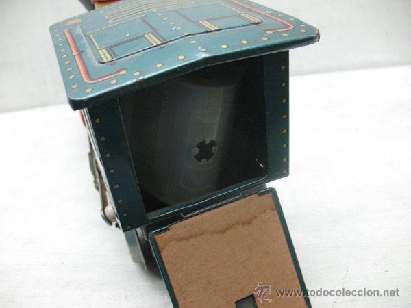 Juguetes antiguos de hojalata: Modern Toys - Locomotora de vapor japonesa de chapa con mecanismo a pilas - Foto 6 - 45465209
