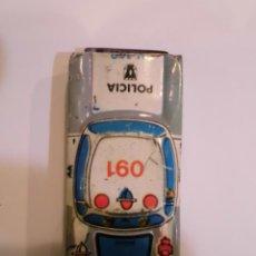 Juguetes antiguos de hojalata: COCHE DE LATON SERIGRAFIADO - COCHE POLICIA 091 - 6X3 CM. Lote 45678538