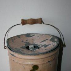 Juguetes antiguos de hojalata: CUBO O LAVABO DE HOJALATA. DIBUJO DE MICKEY MOUSE. MIDE 25 X 22 CMS. DESCONCHADOS EN PINTURA. Lote 45989903