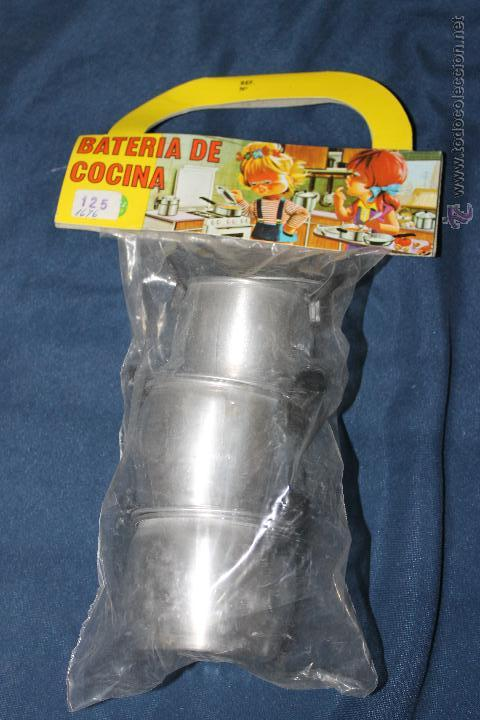 BATERIA DE COCINA DE ALUMINIO, DE PURAMA ALUMINIO PURO AÑOS 70 (Juguetes - Juguetes Antiguos de Hojalata Españoles)