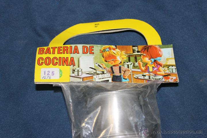 Juguetes antiguos de hojalata: BATERIA DE COCINA DE ALUMINIO, DE PURAMA ALUMINIO PURO AÑOS 70 - Foto 2 - 46320896