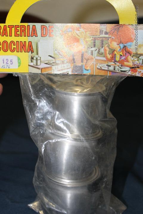 Juguetes antiguos de hojalata: BATERIA DE COCINA DE ALUMINIO, DE PURAMA ALUMINIO PURO AÑOS 70 - Foto 3 - 46320896