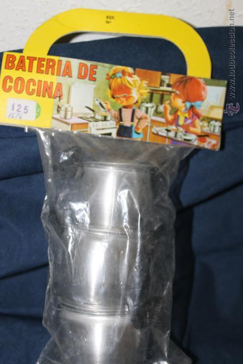 Juguetes antiguos de hojalata: BATERIA DE COCINA DE ALUMINIO, DE PURAMA ALUMINIO PURO AÑOS 70 - Foto 4 - 46320896