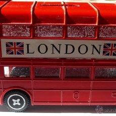 Juguetes antiguos de hojalata: AUTOBUS LONDON HUCHA . Lote 163859304