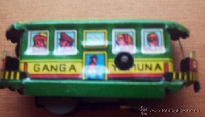 Juguetes antiguos de hojalata: TREN DE PASAJEROS A CUERDA - Foto 3 - 46563065