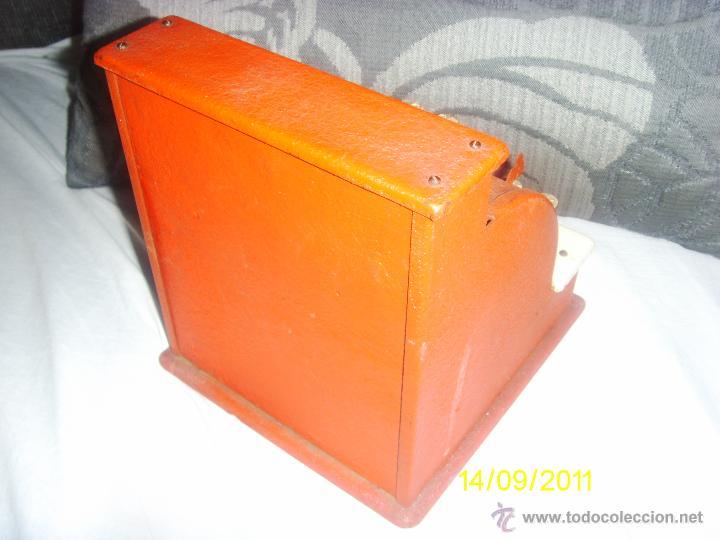 Juguetes antiguos de hojalata: maquina registradora antigua. - Foto 3 - 47087887