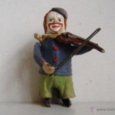 Juguetes antiguos de hojalata: ANTIGUO SCHUCO SOLISTO PAYASO VIOLINISTA ORIGINAL ALEMANIA AÑOS 30 A CUERDA FUNCIONA. Lote 48216047