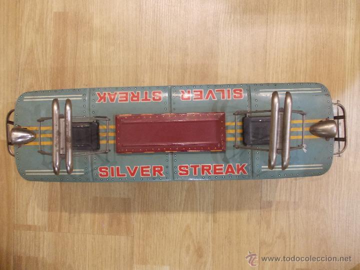 Juguetes antiguos de hojalata: SILVER STREAK-TREN DE HOJALATA-FRICCION-MODERN TOYS-MADE IN JAPAN-JAPON - Foto 2 - 47432971