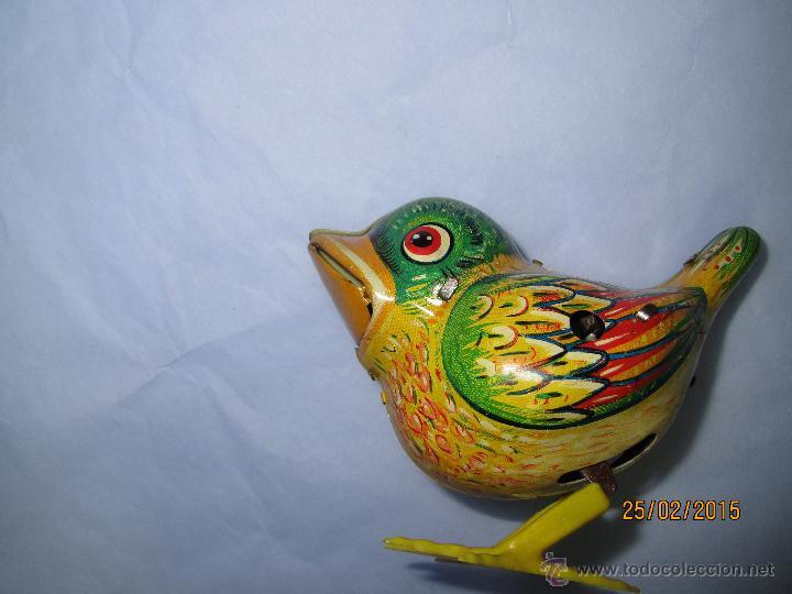 Juguetes antiguos de hojalata: Cria de Pájaro en Hojalata Litografiada y Mecanismo a Cuerda de KOHLER GESCH Made in Germany - 1950s - Foto 5 - 47945355