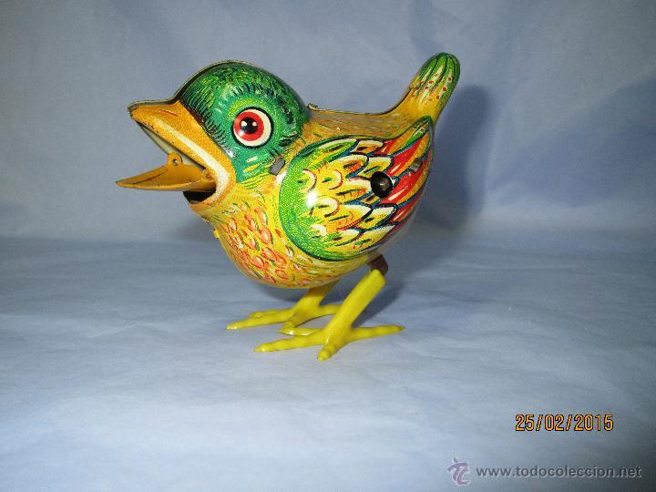 Juguetes antiguos de hojalata: Cria de Pájaro en Hojalata Litografiada y Mecanismo a Cuerda de KOHLER GESCH Made in Germany - 1950s - Foto 6 - 47945355