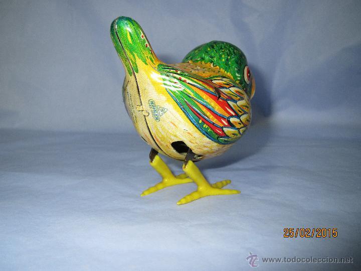 Juguetes antiguos de hojalata: Cria de Pájaro en Hojalata Litografiada y Mecanismo a Cuerda de KOHLER GESCH Made in Germany - 1950s - Foto 8 - 47945355