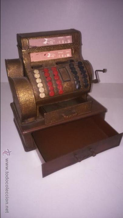 Juguetes antiguos de hojalata: REPLICA DE UNA CAJA REGISTRADORA ANTIGUA - Foto 2 - 48069253