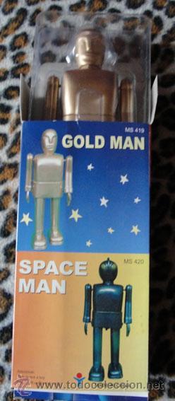 ROBOT GOLD MAN - PROTOCOL - NUEVO - DESCATALOGADO (Juguetes - Juguetes de Hojalata: Reproducciones y Actuales )