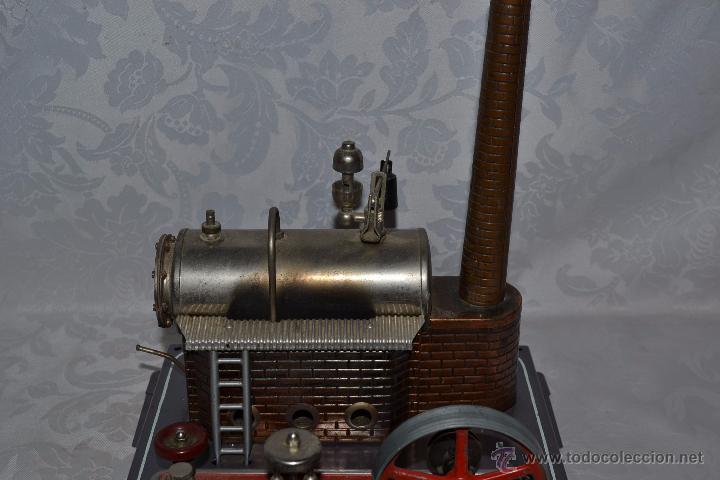 Juguetes antiguos de hojalata: MUY BONITA MAQUINA A VAPOR EN HOJALATA CON ACCESORIOS DE LA MARCA WILESCO - Foto 8 - 48525700