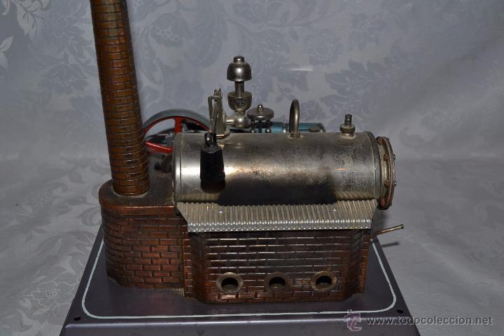 Juguetes antiguos de hojalata: MUY BONITA MAQUINA A VAPOR EN HOJALATA CON ACCESORIOS DE LA MARCA WILESCO - Foto 10 - 48525700