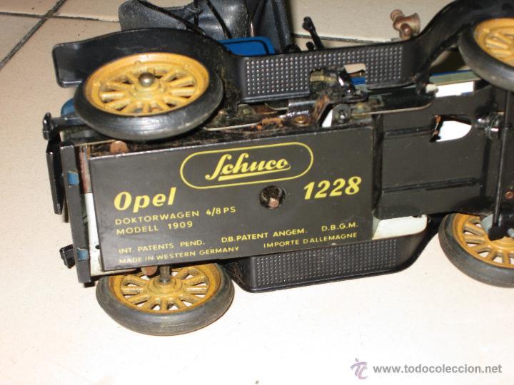 Juguetes antiguos de hojalata: SCHUCO OPEL 1228 Modelo 1909 MADE IN GERMANY - Foto 4 - 48594836