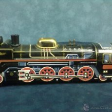 Juguetes antiguos de hojalata: LOCOMOTORA TREN MODERN TOYS MADE IN JAPAN. Lote 49322346