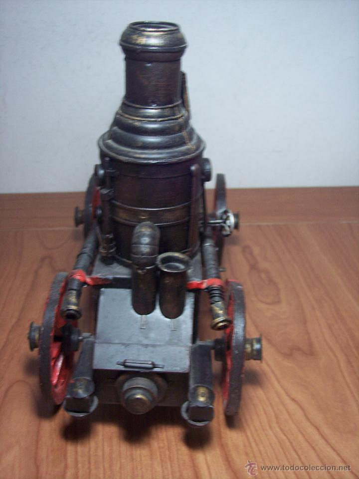 Juguetes antiguos de hojalata: MAQUINA DE VAPOR DE METAL (ALEX BOG) - Foto 2 - 49546132