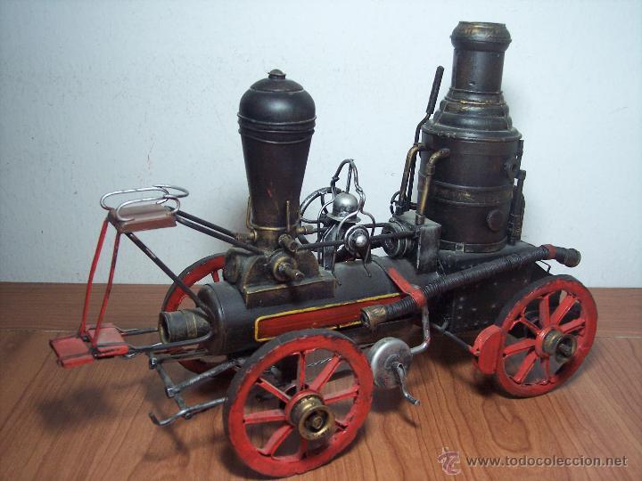 Juguetes antiguos de hojalata: MAQUINA DE VAPOR DE METAL (ALEX BOG) - Foto 4 - 49546132