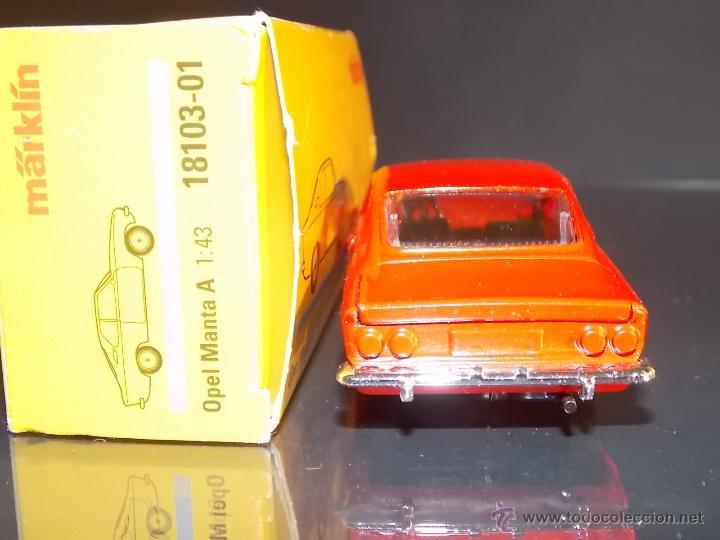 Juguetes antiguos de hojalata: Märklin Opel Manta ROJO / Marklin Opel1:43 // ovp - Foto 3 - 49583466