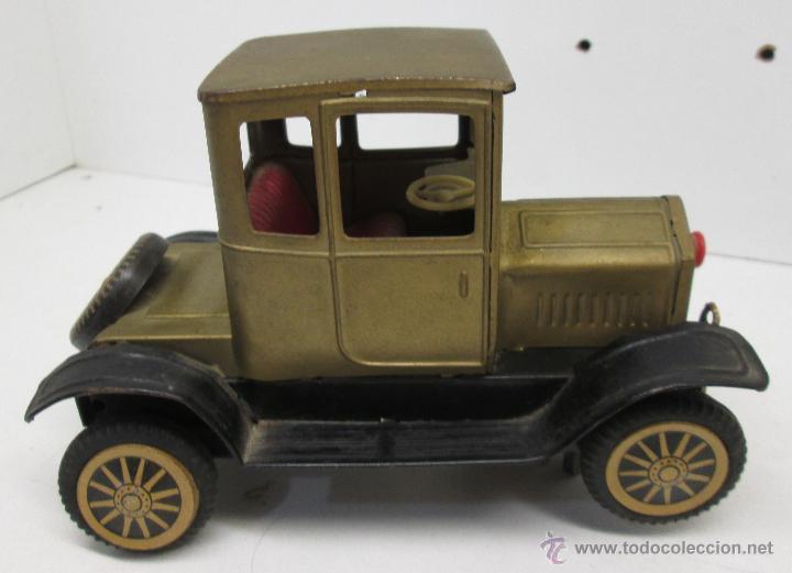 Juguetes antiguos de hojalata: Antiguo coche chapa FORD-T 1908, made in Japan años 50 - Foto 2 - 49718950