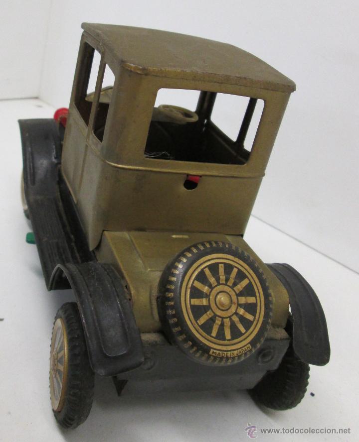 Juguetes antiguos de hojalata: Antiguo coche chapa FORD-T 1908, made in Japan años 50 - Foto 3 - 49718950