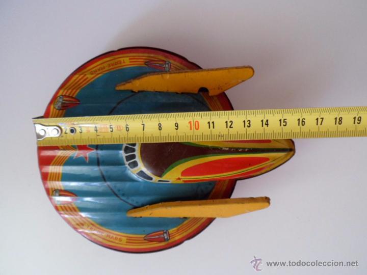 Juguetes antiguos de hojalata: Nave espacial W 902 Terre Mars SFA París de hojalata chapa Años 50 Alfredocolección - Foto 9 - 49734383