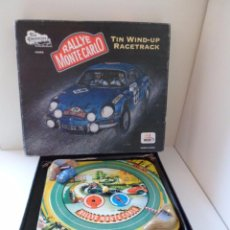 Juguetes antiguos de hojalata: RALLYE DE MONTE CARLO TIN WIND UP RACETRACK TIN TREAUSURES #S062 HOJALATA WELBY RALLY REPRO INDIA. Lote 49747661