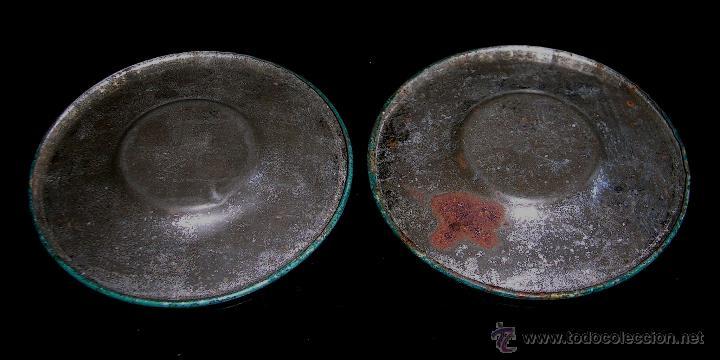 Juguetes antiguos de hojalata: Juego de café o té con motivos orientales, fabricado en hojalata litografiada, Rico S.A. Años 30. - Foto 9 - 50007044