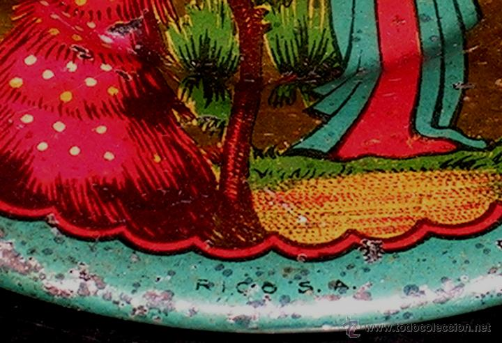 Juguetes antiguos de hojalata: Juego de café o té con motivos orientales, fabricado en hojalata litografiada, Rico S.A. Años 30. - Foto 12 - 50007044