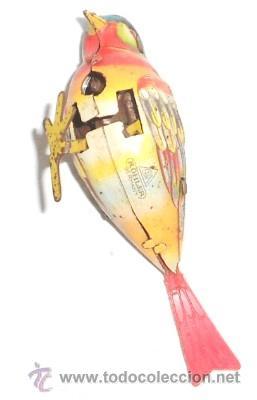 Juguetes antiguos de hojalata: PÁJARO A CUERDA INCOMPLETO KÖHLER, GERMANY - Foto 2 - 50060518