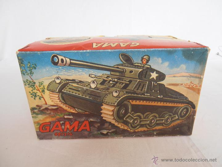 Juguetes antiguos de hojalata: TANQUE GAMA T60 COMPLETO EN CAJA ORIGINAL 60/3/4 TANK MADE IN WEST GERMANY IMPECABLE - Foto 11 - 50257706