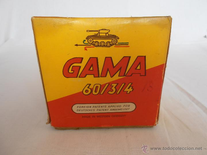 Juguetes antiguos de hojalata: TANQUE GAMA T60 COMPLETO EN CAJA ORIGINAL 60/3/4 TANK MADE IN WEST GERMANY IMPECABLE - Foto 12 - 50257706