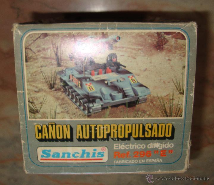 Juguetes antiguos de hojalata: DIFICIL CAJA VACIA DE CAÑON AUTOPROPULSADO ELECTRICO DIRIGIDO REF 296 E DE SANCHIS ORIGINAL - Foto 6 - 50511411