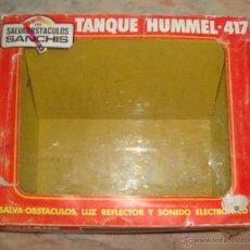 Juguetes antiguos de hojalata: DIFICIL CAJA VACIA DE TANQUE HUMMER 417 DE SANCHIS ORIGINAL. Lote 50531167