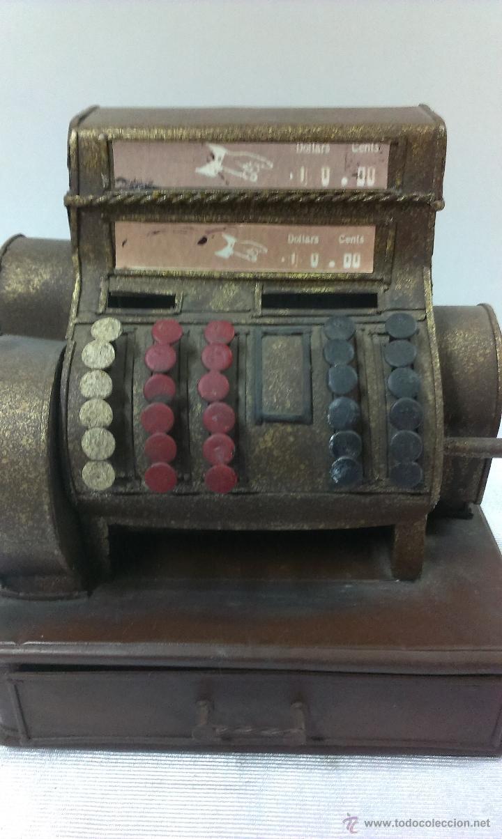Juguetes antiguos de hojalata: REPLICA DE UNA CAJA REGISTRADORA ANTIGUA - Foto 12 - 48069253
