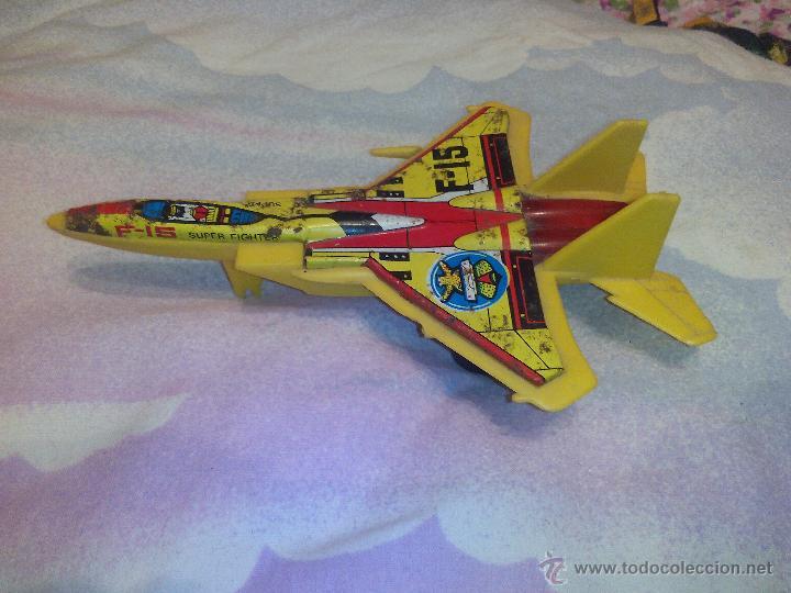 Juguetes antiguos de hojalata: Avión en metal y plástico F15 eagle jimmy toys vintage. - Foto 2 - 51095094