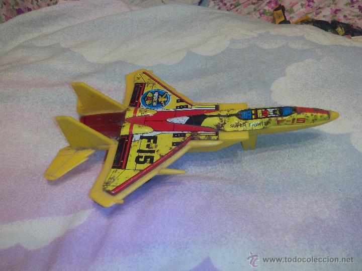 Juguetes antiguos de hojalata: Avión en metal y plástico F15 eagle jimmy toys vintage. - Foto 3 - 51095094