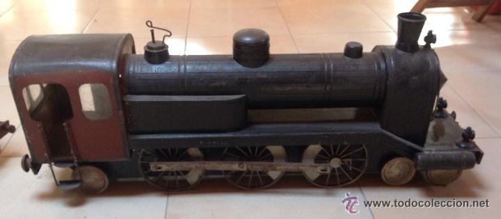 Juguetes antiguos de hojalata: Hispania tren - Foto 10 - 52413198