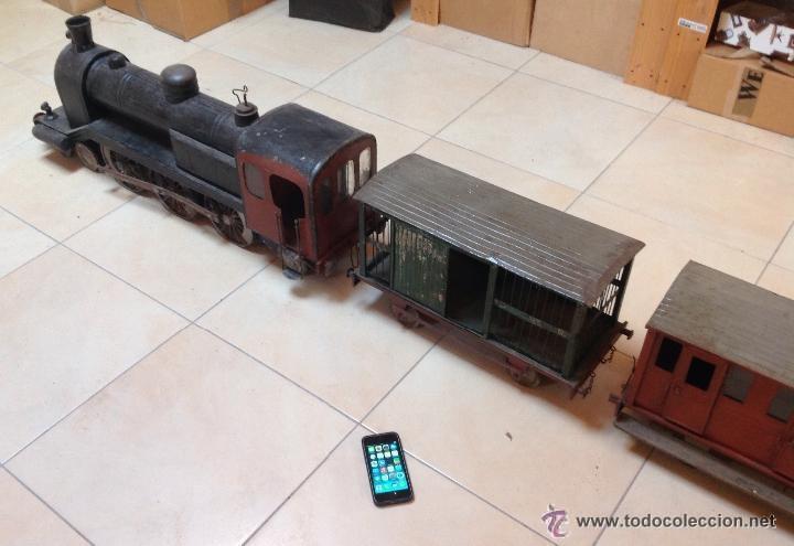 Juguetes antiguos de hojalata: Hispania tren - Foto 11 - 52413198