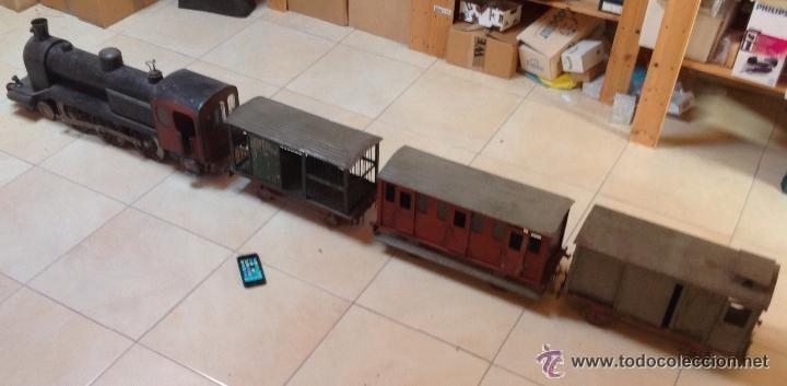 Juguetes antiguos de hojalata: Hispania tren - Foto 12 - 52413198